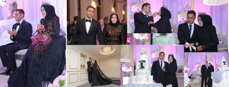 Shila Amzah 'PECAH TRADISI' PILIH TEMA Black & Elegant Rekaan Azura Couture Untuk Majlis Resepsi