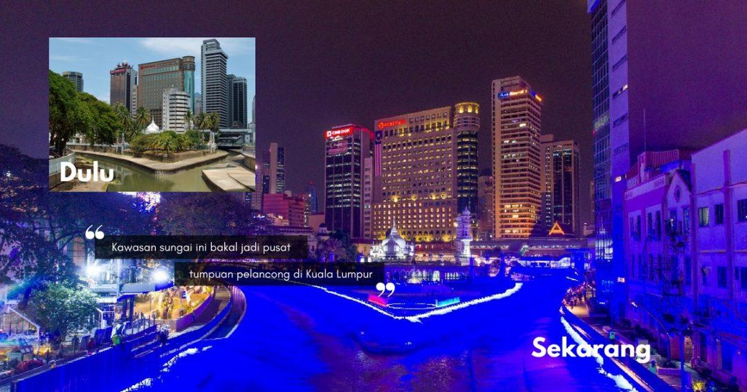 Sungai Klang Bermandi Cahaya Biru, Bakal Jadi MERCU IKONIK BAHARU Di Kuala Lumpur. Jom Pergi Malam Ini!