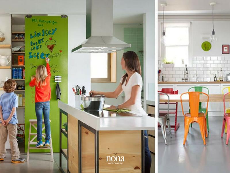 Memandangkan Ruang Dapur Banyak Digunakan Oleh Anak Untuk Membuat Kerja Sekolah Sediakan Satu Menempatkan Papan Hitam Atau Kenyataan