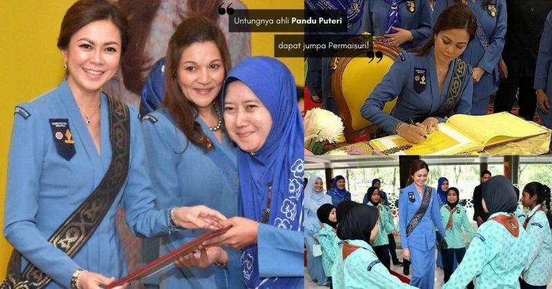 Bertuahnya Ahli Pandu Puteri Selangor Dapat Jumpa DYMM TENGKU PERMAISURI NORASHIKIN, Cantik Sangat Orangnya!