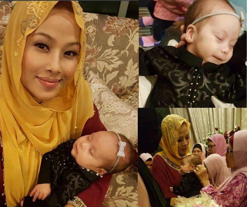 Majlis Cukur Jambul Puteri Sulung Linda Onn, Ungku Zara Comel Sangat!