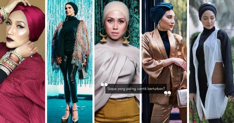 5 Ikon Fesyen Hijabi Malaysia Yang Cantik Berturban, Gaya Siapa Paling Win?