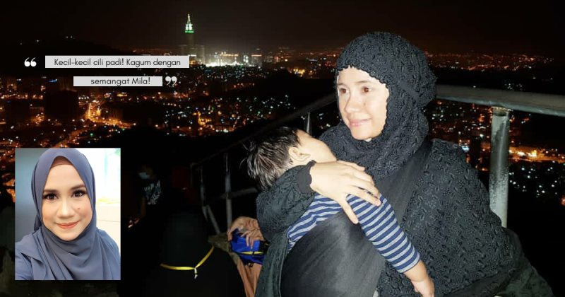 Mila Jirin Tunjuk Kuasa Supermommy, Daki Puncak JABAL NUR Setinggi 642 Meter Sambil Dukung Anak!