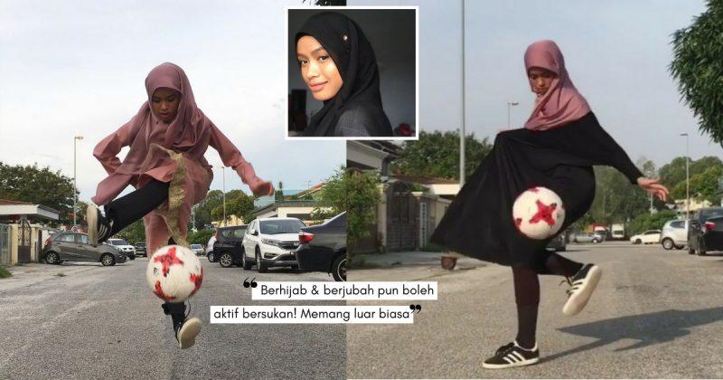 Pakai JUBAH Pun 'Steady' Timbang Bola, Bakat Gadis Ini Cipta Fenomena!