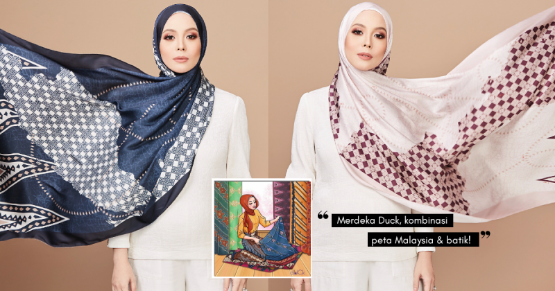Berhijab Sambil 'Bawa' PETA MALAYSIA, Taruhan dUCkscarves Sempena MERDEKA!