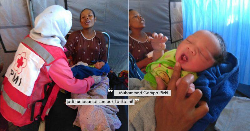 Bersalin Ketika Gempa Bumi Di Lombok, Ibu Ini Menamakan Bayinya MUHAMMAD GEMPA!