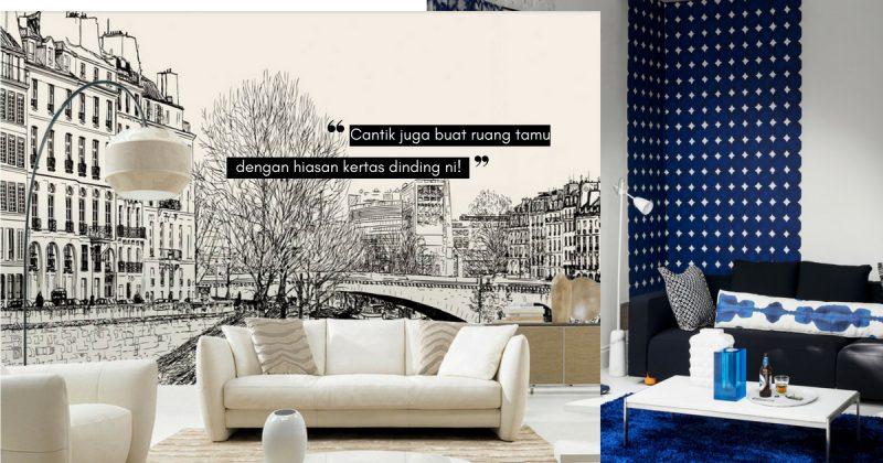 Salah Satu Cara Untuk Memperindah Penampilan Ruang Tamu Minimalis Ialah Menggunakan Kertas Dinding
