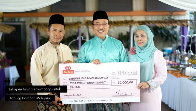 Eskayvie Sumbang RM30,000 Untuk Tabung Harapan Malaysia