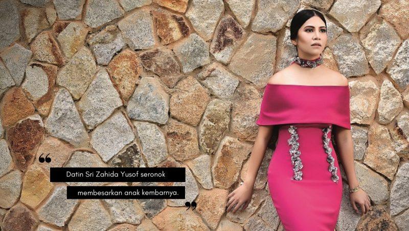 Datin Sri Zahida Yusof, Ibu Kepada Anak Kembar Yang Komited Bersenam