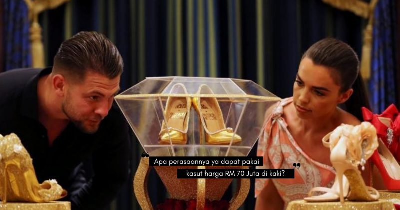 Diperbuat Daripada Emas Asli & 236 Butir Berlian, THE PASSION DIAMOND SHOES Bernilai RM70 Juta!